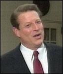 En synlig lettet Al Gore roser dagens beslutning i Høyesterett.
