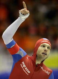 En glad Eskil Ervik etter 1500-meteren. (Foto: AP/Scanpix)