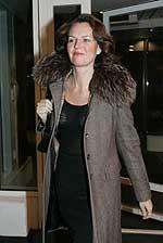 På bildet ankommer styremedlem Marianne Lie, Rederforbundet, til møtet. Foto: Terje Bendiksby / SCANPIX