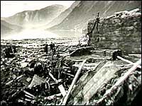 Etter raset frå Ramnefjellet i 1936.