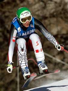 Michaela Dorfmeister vant søndagens utforrenn i Cortina. (Foto: AP / SCANPIX)