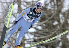Adam Malysz på vei til seier i Kulm. (Foto: Reuters/Scanpix)