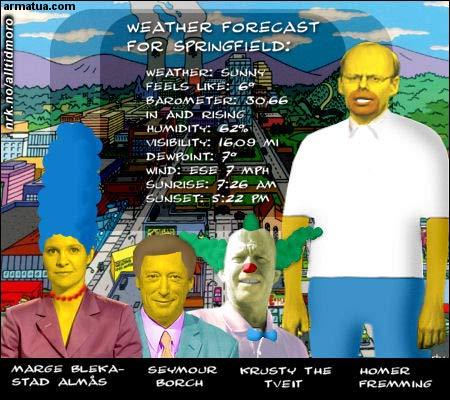 Skillet mellom NRK og The Simpsons blir stadig mindre. (Innsendt av Arne K., armatua.com)