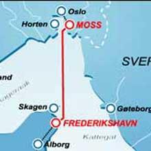 Det ble aldri noen hurtigrute mellom Moss og Fredrikshavn. Selskapet Jetlink er konkurs. Bilde Jetlink