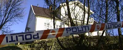 Mannen ble skutt utenfor sitt hjem i Båstad. ( Foto: Stephan Reis, NRK )