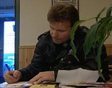 Per Arild Ås leverte onsdag en melding til politiet om at han har mottatt drapstrussel i et brev. (Foto:NRK)