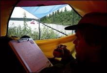 Det er viktig å ha et solid telt når man er ute på tur. Her fra Canada.