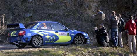 Petter Solberg på andre fartsprøve i Monaco 2005, Foto: Jon Eeg /SCANPIX