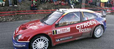 Sebastien Loeb leder Rally Monaco 2005, Foto: Pascal Guyot