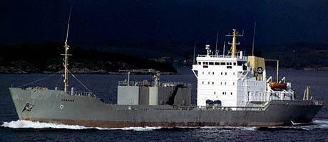 M/V Cemstar var lasta med 5000 tomm sement då skipet grunnstøytte. Arkivbilde. Foto: Torvald Klaveness Group