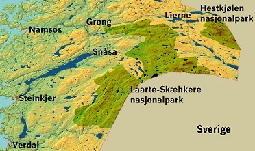 Fylkesmannens forslag til nasjonalpark er markert med de grønne feltene.