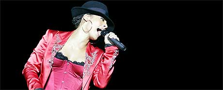 Alicia Keys er Quart-festivalens dyreste artist gjennom historien. (Foto: Heiko Junge, Scanpix)
