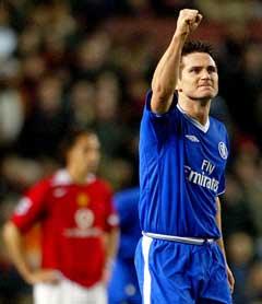 Frank Lampard jubler etter 1-0-målet. (Foto: AP/Scanpix)