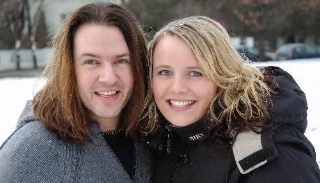 Tommy og Anne med ny melodi. Foto: Helge Jørgensen