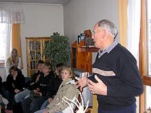 KOLS-pasient Arvid Hovin forteller om livet med sykdommen Foto: Helena Sæter / NRK