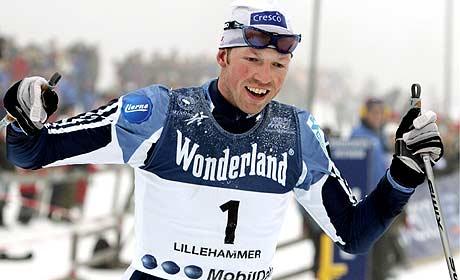 Frode Estil vinner NM-gull i skiathlon (Foto: Scanpix/Heiko Junge)