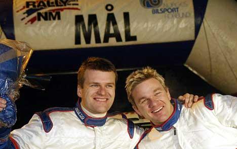 Henning Solberg og kartleser Cato Menkerud var uslåelige lørdag under Rally Hadeland. (Foto: Erlend Aas / Scanpix)