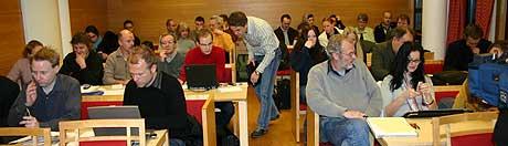 Publikum på rettssaka Foto: Jostein Nyfløtt NRK