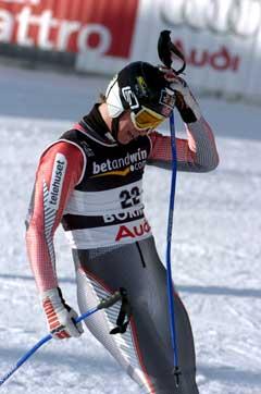Bjarne Solbakken ble nr. 18 i lørdagens super-G. (Foto: Jan Erik Henriksson / SCANPIX)