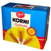 Korni Flatbrød hos Coop Prix til 3,85 kroner, mens andre merker selges flere ganger så dyrt. (Foto: Per Kristian Johansen)