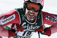 Lasse Kjus går for medalje. (Foto: Scanpix)