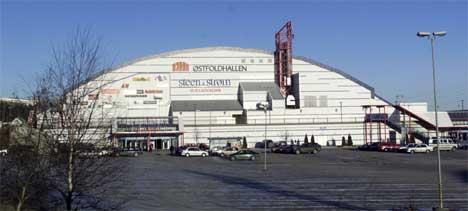 I kjøletårnet på Østfoldhallen er det funnet legionellabakterier (Foto: Erik Johansen/Scanpix)