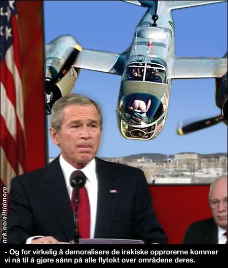 I sin tale i natt la USAs president fram sin nye plan for Irak. (Alltid Moro)