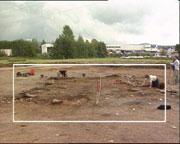 Utgravningene på Faret avdekket en gamel kirke.
