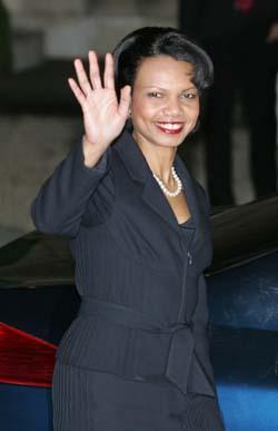 Utenriksminister Rice var forsonlig da hun besøkte Europa. (Arkivfoto)