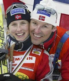 Svein Tore Samdal og Marit Bjørgen har samarbeidet i en årrekke. (Foto: Erik Johansen / SCANPIX)