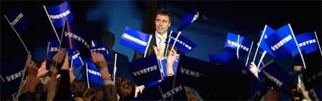 Anders Fogh Rasmussen feirer valgseier. (Foto: Reuters / Scanpix)