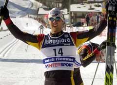 Axel Teichmann jubler over gullet på 15 kilometer for to år siden. (Foto: AP/Scanpix)