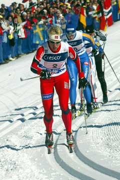 Anita Moen i aksjon på første etappe i Val di Fiemme for to år siden. (Foto: Terje Bendiksby / SCANPIX)