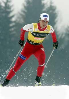 Marit Bjørgen på vei til 4. plass i Reit Im Winkel. (Foto: Terje Bendiksby / SCANPIX)