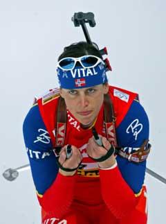 Gro Marit Istad Kristiansen på vei til 6. plass på sprinten. (Foto: Reuters/Scanpix)
