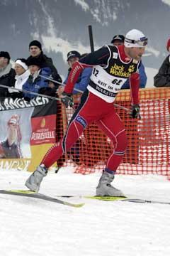 Kristen Skjeldal på vei til 4. plass i Reit im Winkel. ( Foto: Terje Bendiksby / SCANPIX)