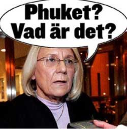 KRITISK: Utenriksminister Laila Freivalds manglende geografikunnskaper blir ikke tatt nådig opp. Her faksimile fra Expressen.