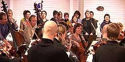 Bodø Sinfonietta øver sammen med koret Con Brio.