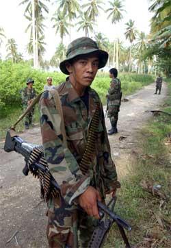 Opprører på Mindanao sør i Filippinene. (Foto: Scanpix / AFP)
