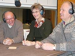 <b>Skienslaget:</b> (fra venstre) John Olav Johnsen, Kari Bugge og Ole Jensen. Foto: Stig Bolme, NRK.