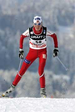 Kristin Størmer Steira på vei til 10. plass. (Foto: Terje Bendiksby / SCANPIX)