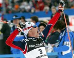 Vincent Vittoz jublende i mål (Foto: AP/Scanpix)