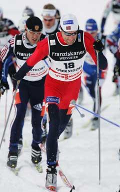 Odd-Bjørn Hjelmeset mens han fortsatt var i aksjon. (Foto: Erlend Aas / SCANPIX)