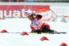 Vibeke Skofterud tok seg helt ut på første etappe. (Foto: Terje Bendiksby / SCANPIX)