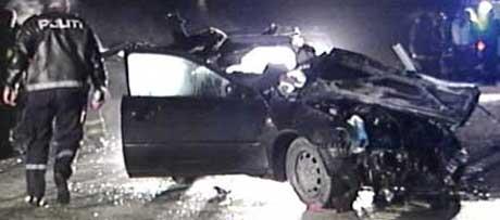 Ulykken krevde tre liv ( Foto: Tobias Sakrisvold Martinsen, NRK )