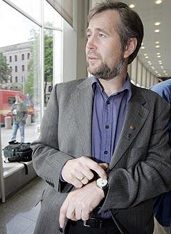 Leder i Politiets Fellesforbund, Arne Johannessen mener det er på tide at den gamle avtalen mellom lensmennene og Tono. Foto Heiko Junge / SCANPIX .