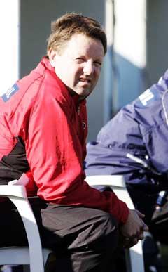Bjarne Berntsen var ikke fornøyd med tapet mot Kina Foto: Tor Richardsen / SCANPIX)