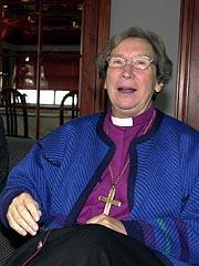 Biskop Rosemarie Köhn vil være tilstede på skoleåpningen i juni.(Foto: Kjell Herskedal / SCANPIX)