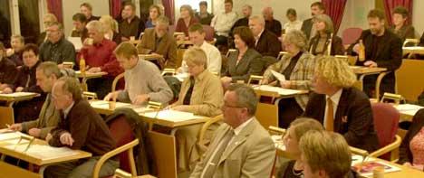Det blir ingen reduksjon i antallet kommunestyrerepresentanter i Halden kommune fra 2007. Foto: Halden Dagblad