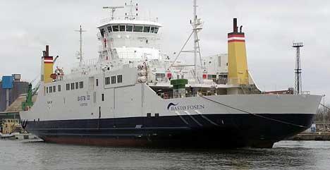 Bastø III er en av båtene som trafikkerer mellom Moss og Horten. (Foto: NRK)